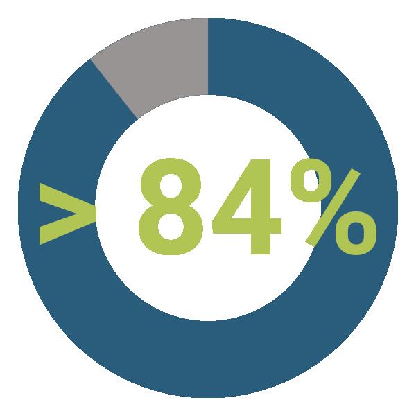 più del 84% Email Aperte