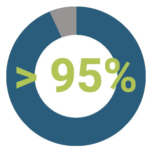 più del 95% Email Consegnate